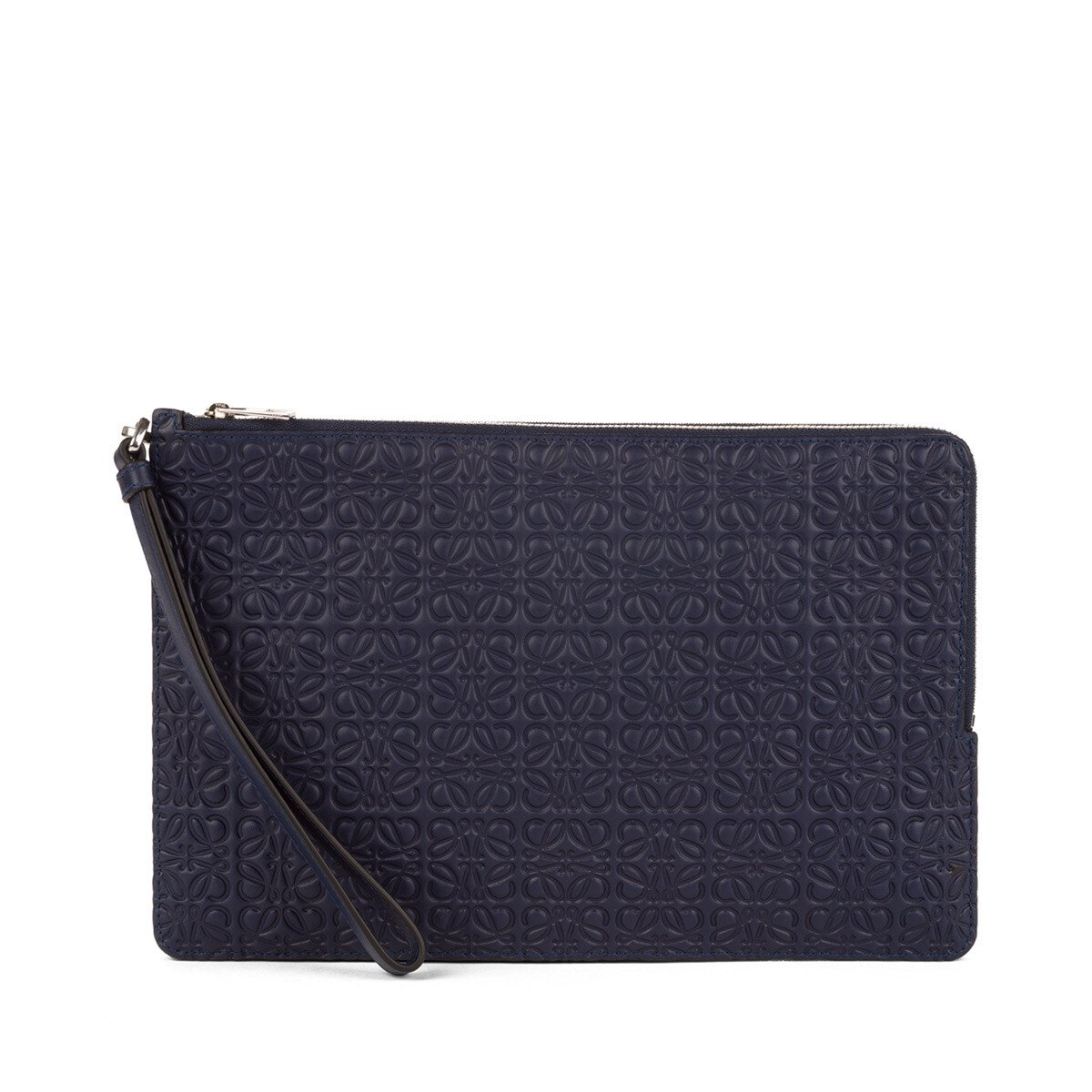 LOEWE Pouch Doble Plana Marine Azul front