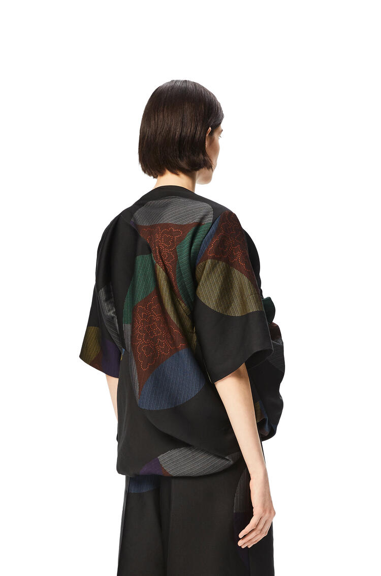 LOEWE Kaleidoscope jacquard gathered top Multicolor pdp_rd