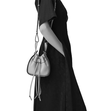LOEWE Hammock Drawstring Mini Bag Pale Green front