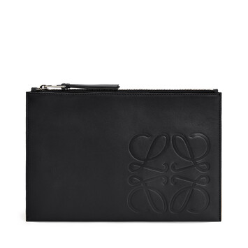 LOEWE Brand Flat Pouch 黑色 front