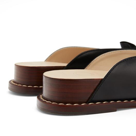 LOEWE Wedge Flip Flop 黑色 front