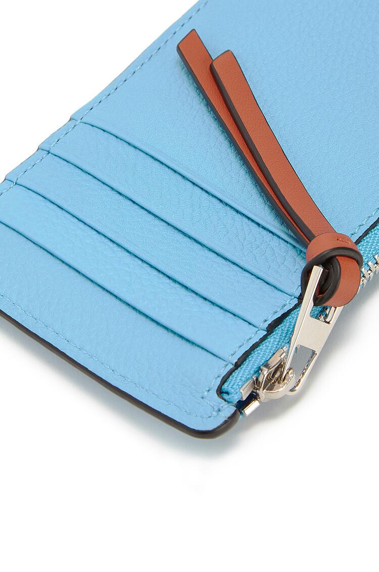 LOEWE コイン カードホルダー(ソフト グレイン カーフスキン) Sky-blue/Black pdp_rd