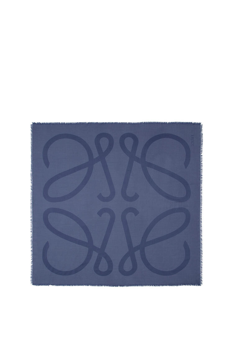 LOEWE 140X140 SCARF GIANT ANAGRAM Blue pdp_rd