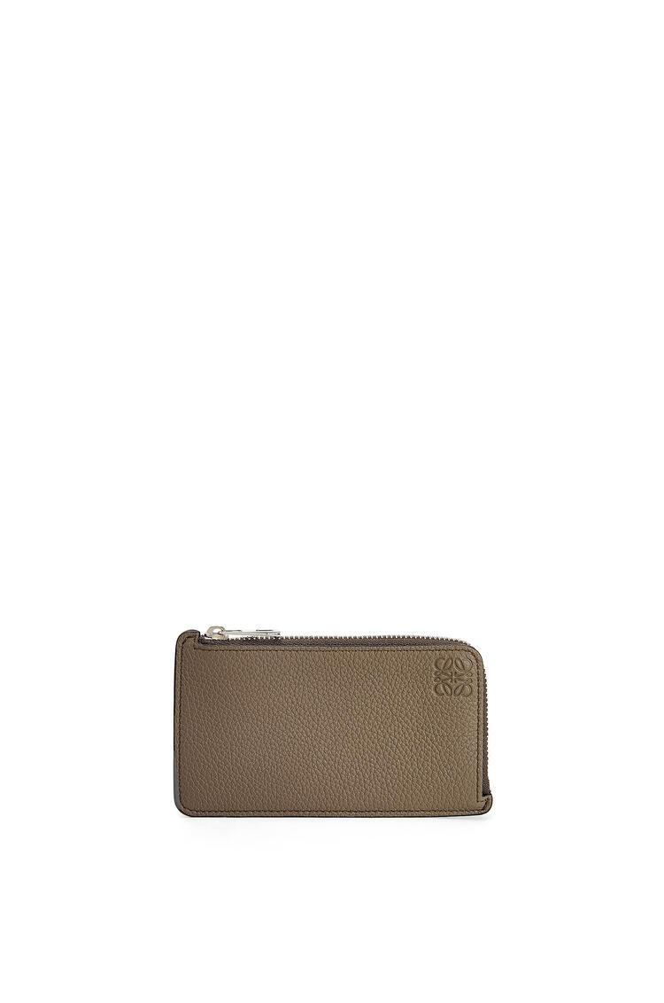 LOEWE Coin cardholder in soft grained calfskin Dark Moss pdp_rd