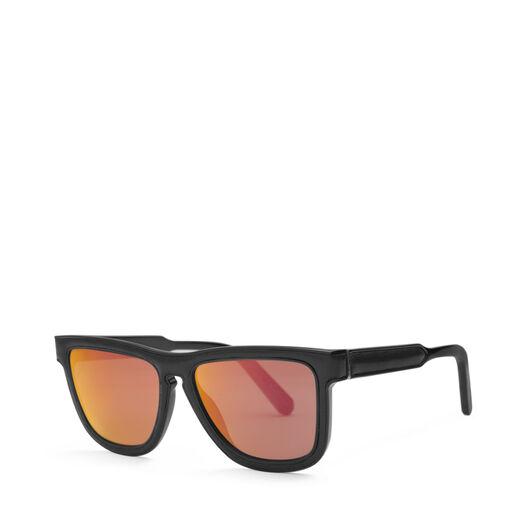 LOEWE Gafas Cuadradas Acolchadas Negro/Rojo Espejo front