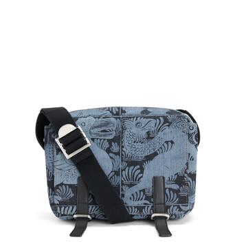 LOEWE Military Messenger Tiles Xs Bag Indigo/Black front