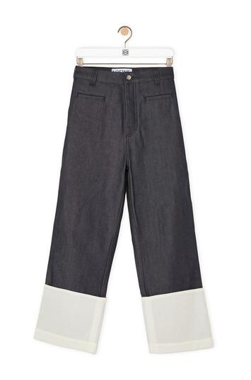 LOEWE Fisherman Jeans Navy Blue front