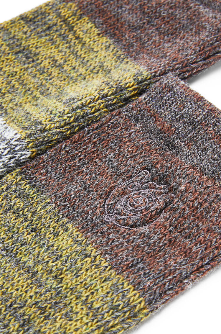 LOEWE Socks In Polyester Khaki Green/Orange pdp_rd