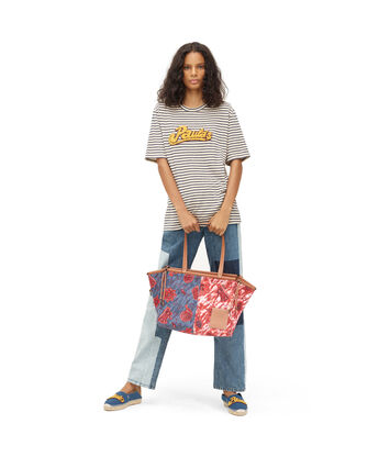 LOEWE Paula Stripe T-Shirt Ecru/Marino front