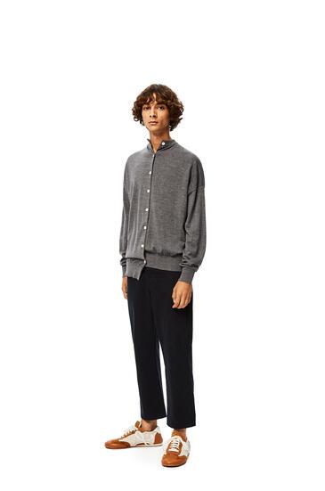 LOEWE Asymmetric cardigan in cashmere Dark Grey pdp_rd