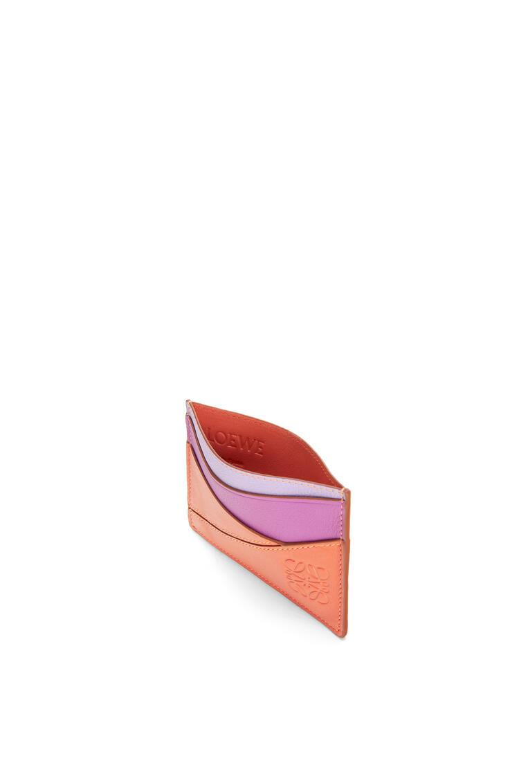 LOEWE パズル プレーン カードホルダー (クラシック カーフスキン) Grapefruit/Mauve pdp_rd