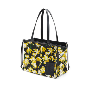 LOEWE Cushion Tote Daisy Black/Yellow front