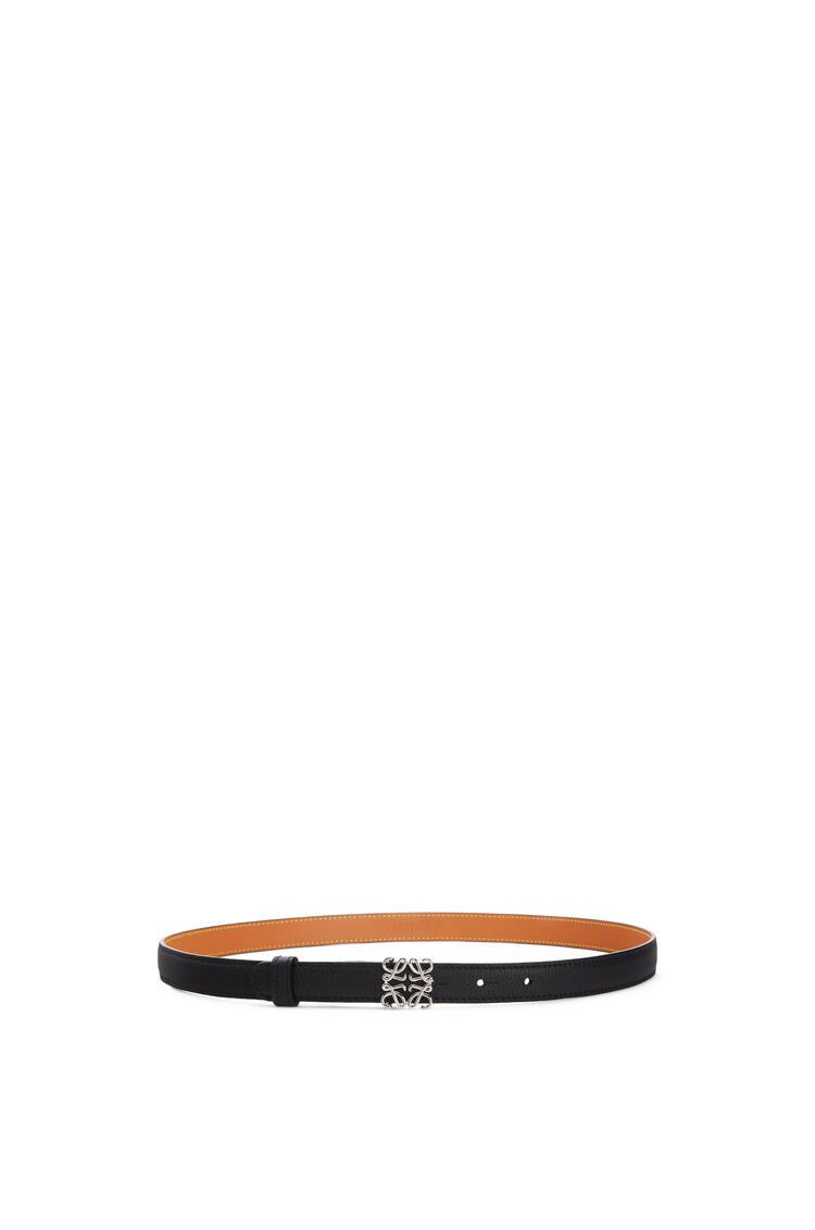 LOEWE Anagram belt in grained calfskin Black/Palladium pdp_rd