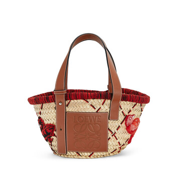LOEWE Basket Animales Small 紅 front