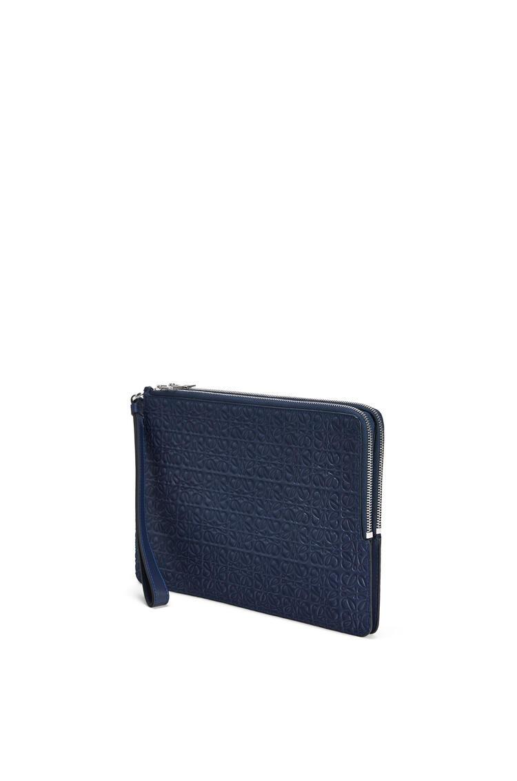 LOEWE Bolso de mano en piel de ternera con doble cremallera Marine Azul pdp_rd
