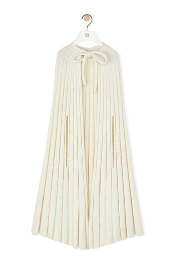 LOEWE Knit Cape 淡褐色 front