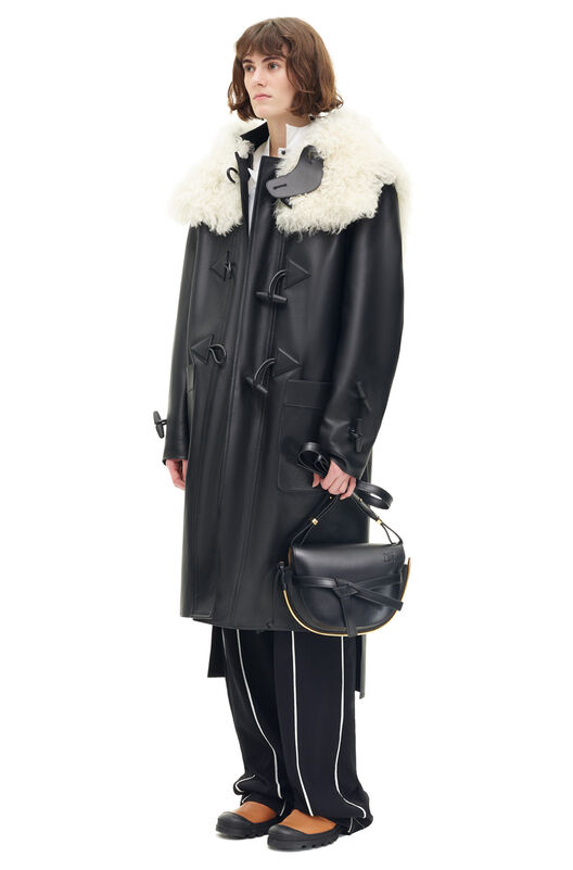 LOEWE Abrigo Negro/Natural all
