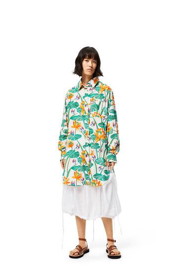 LOEWE Oversize shirt in waterlily silk White/Orange pdp_rd