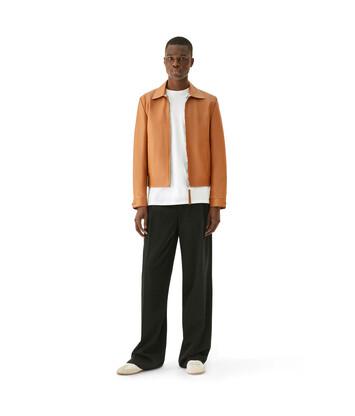 LOEWE 茶色拉链罩衫 棕色 front