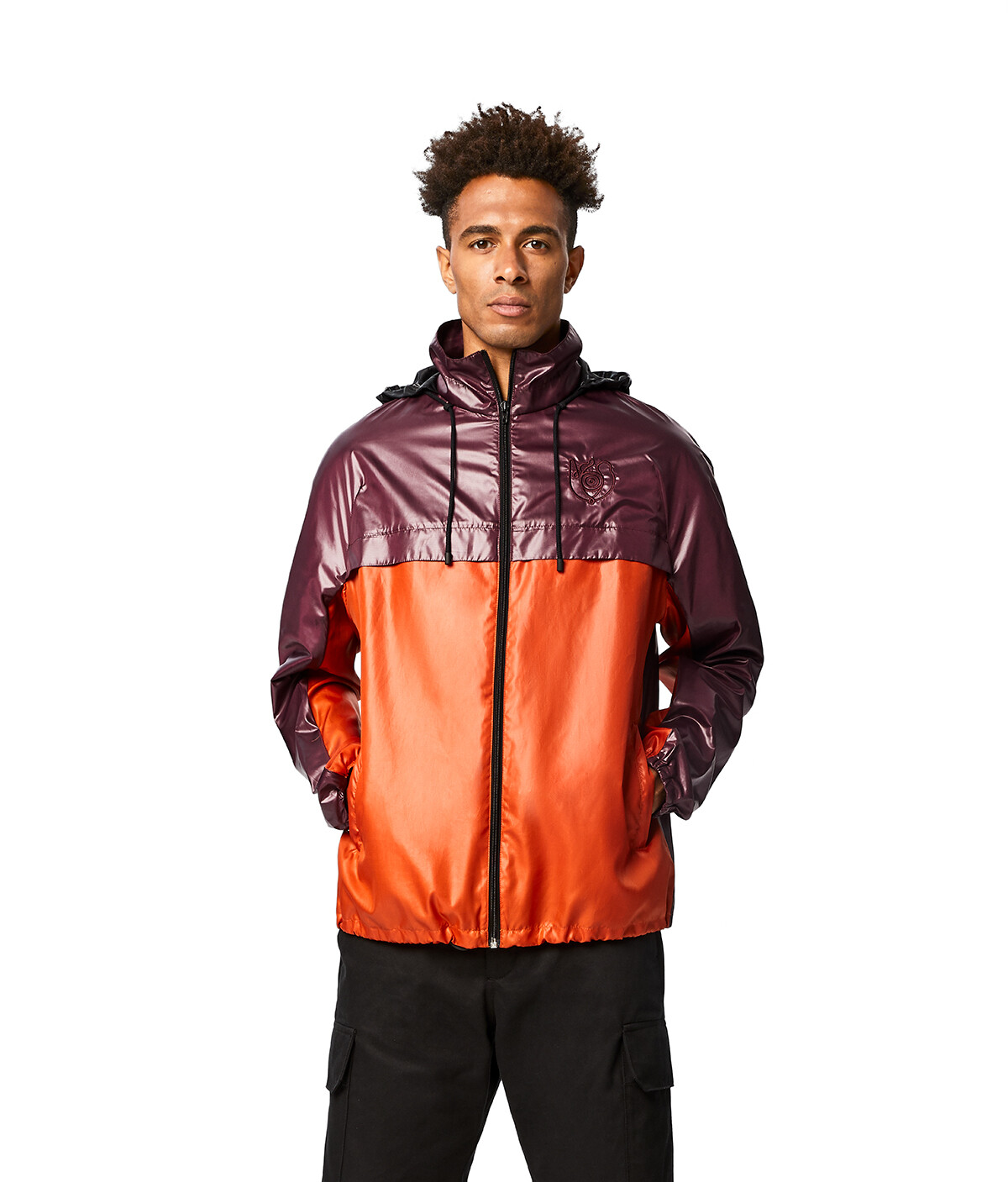 LOEWE Eln Zip Jacket Purple/Orange front