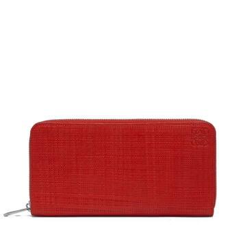 LOEWE Billetero C/Cremallera Rojo Escarlata front