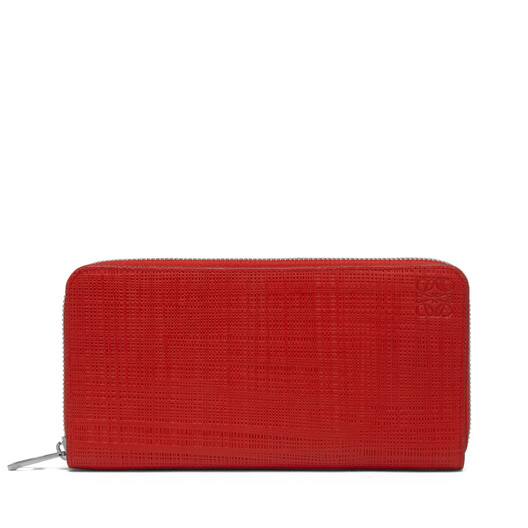 LOEWE Linen Zip Around Wallet 猩红色 front
