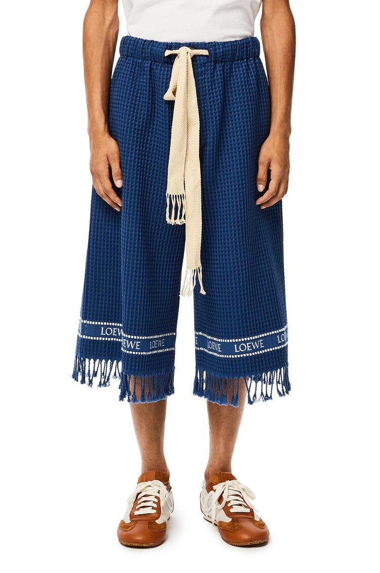 LOEWE Shorts en algodón con ribete LOEWE Marino pdp_rd