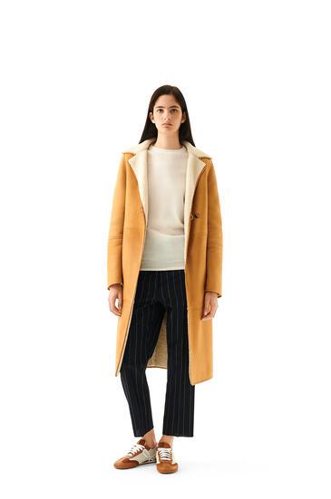 LOEWE Shearling coat in novack Gold/White pdp_rd