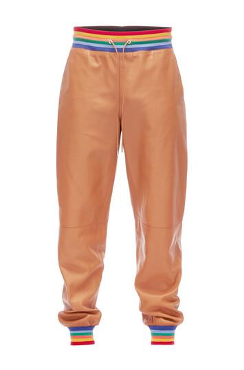 LOEWE Rainbow Rib Trousers 棕色 front