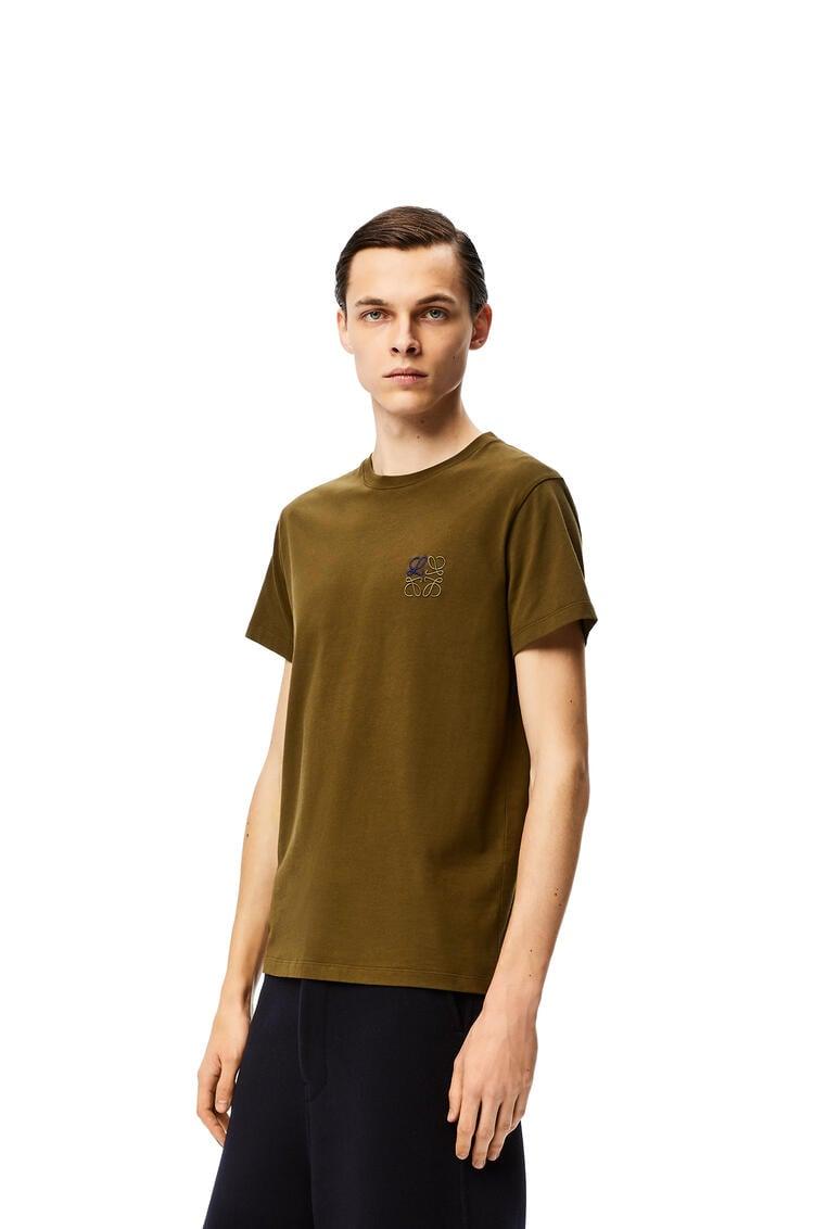 LOEWE Camiseta en algodón con anagrama Verde Kaki pdp_rd