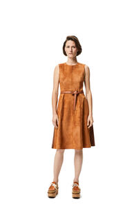 LOEWE Belted dress in suede Sand/Caramel pdp_rd