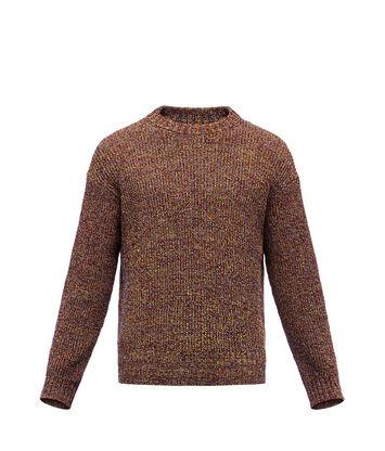 LOEWE Crewneck Sweater Melange Marino front