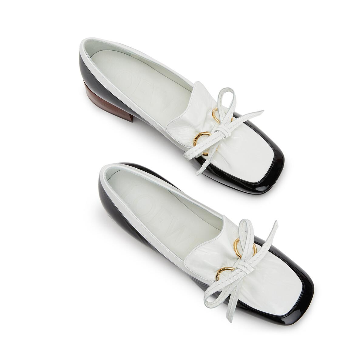 LOEWE Loafer 50 Black/White front