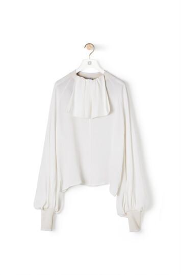 LOEWE Lavaliere Rib Collar Top ホワイト front