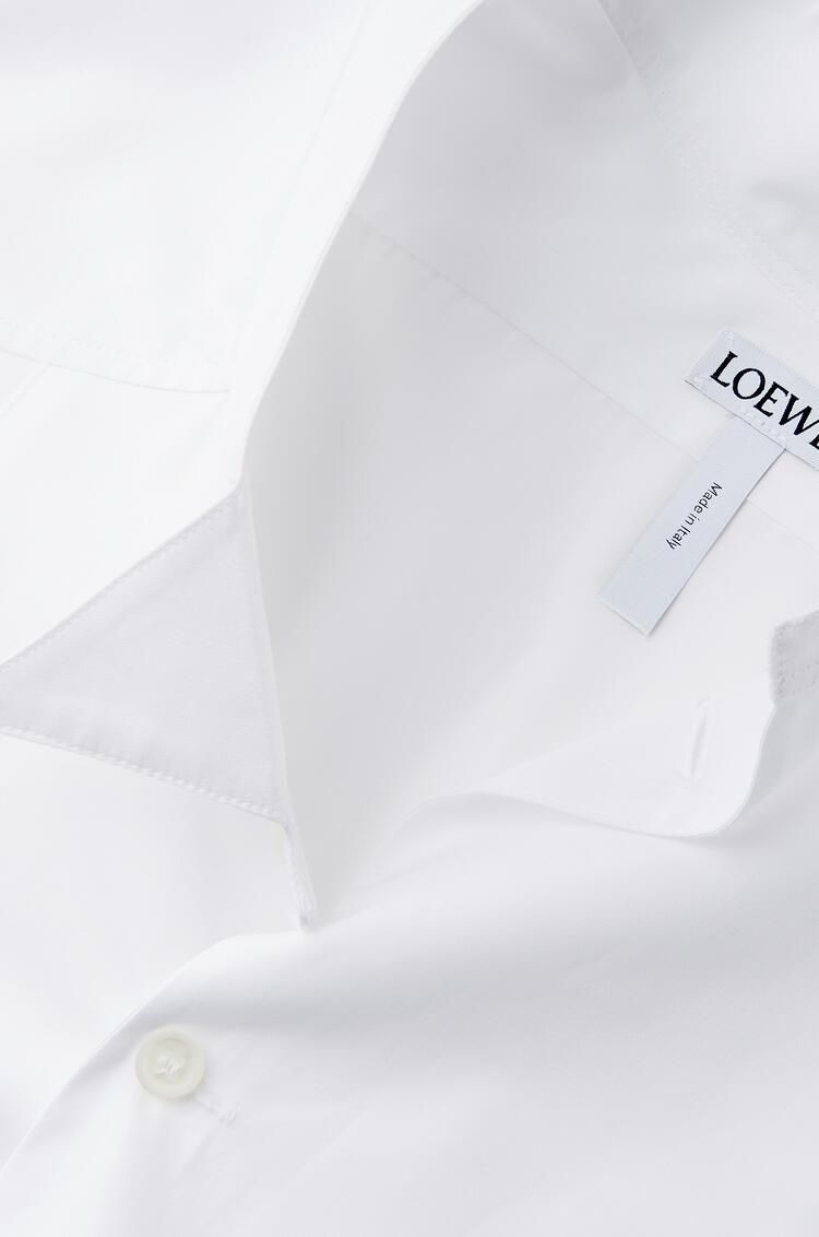 LOEWE アシンメトリー シャツ(コットン) ホワイト pdp_rd
