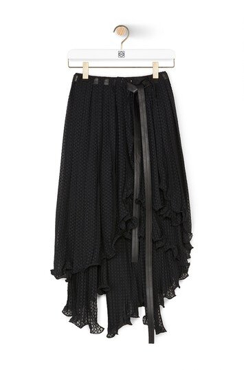 LOEWE Fil Coupe Skirt 黑色 front
