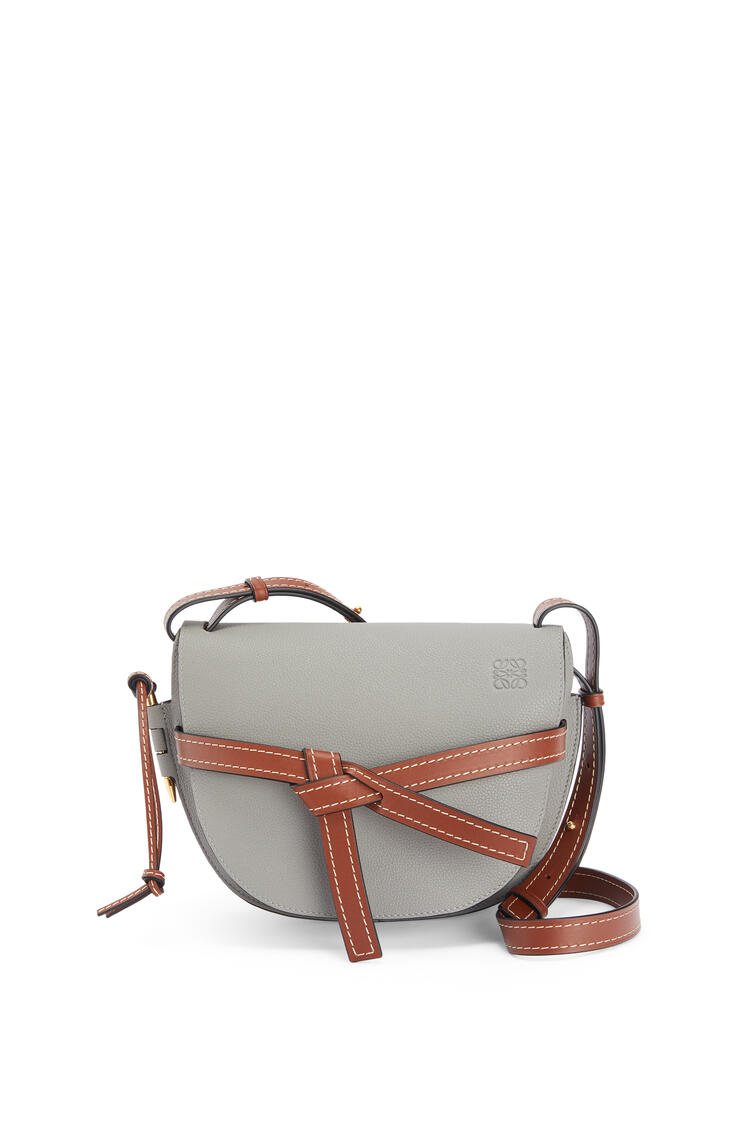 LOEWE Small Gate bag in soft grained calfskin Smoke/Pecan pdp_rd