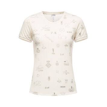 LOEWE T-Shirt Logomania Calico front