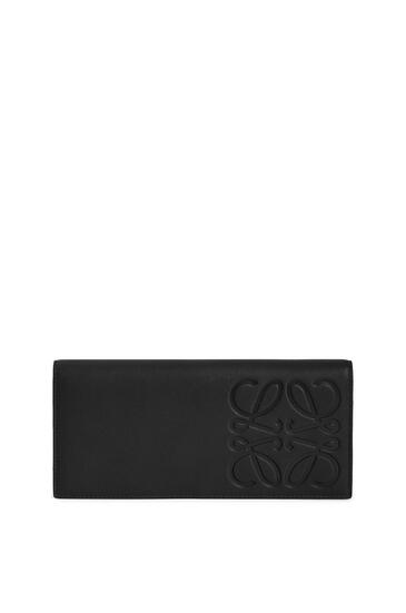 LOEWE Long horizontal wallet in smooth calfskin Black pdp_rd