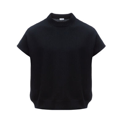LOEWE Sleeveless Cropped Sweater Black front
