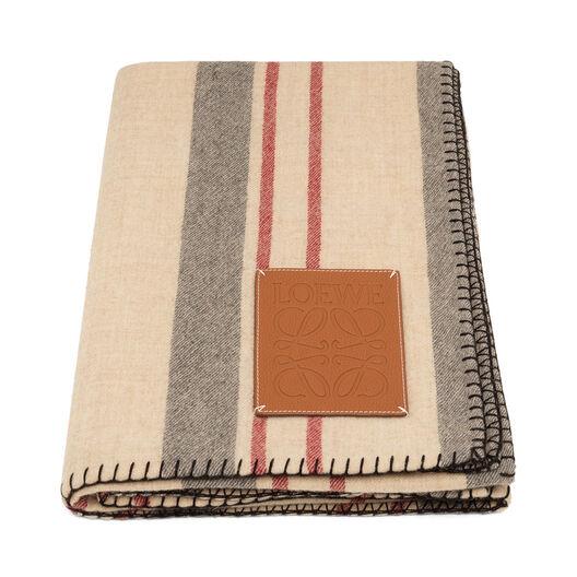 LOEWE 135X185 Stripes Blanket Vanille Multicolor/Tan all
