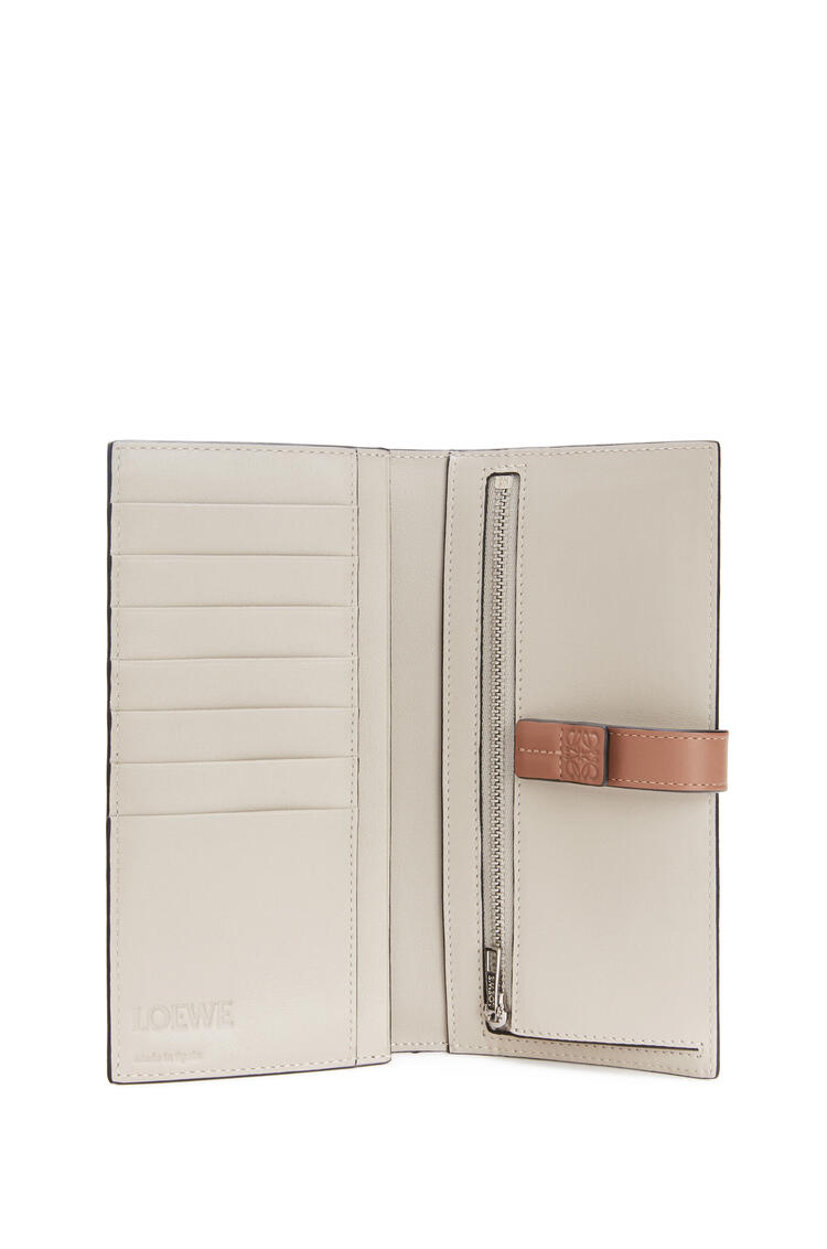 LOEWE Large vertical wallet in soft grained calfskin Rosemary/Tan pdp_rd