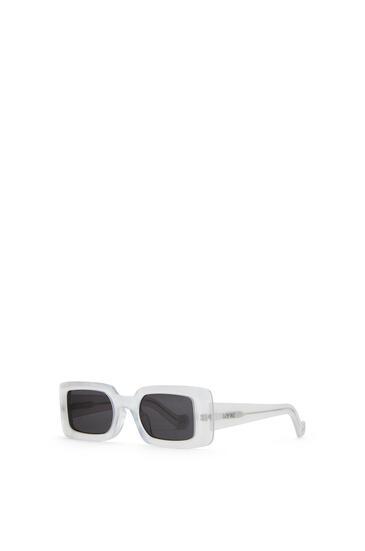 LOEWE 醋酸纤维方形太阳镜 White/Smoke pdp_rd
