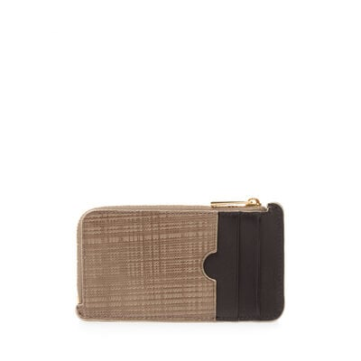 LOEWE Coin/Card Holder Dark Taupe front