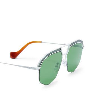 LOEWE Geometrical Sunglasses Optical White/Bright Green front