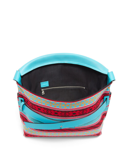 LOEWE Strap Messenger Knit Bag Multicolor front
