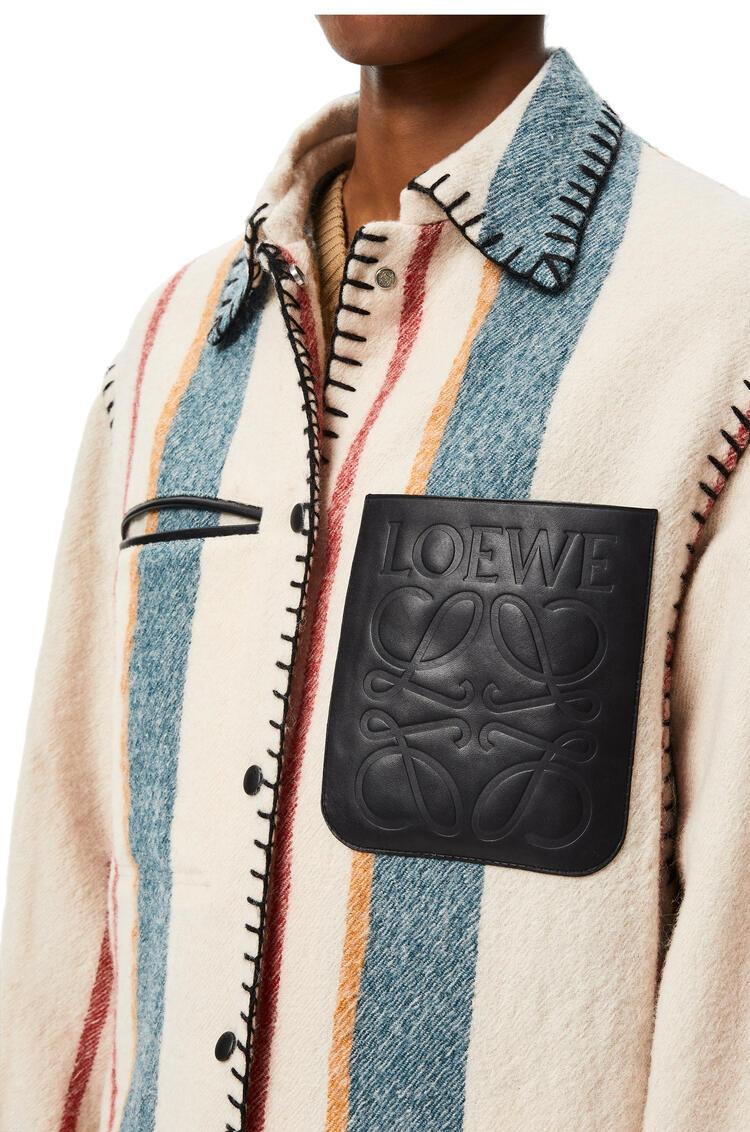 LOEWE Button jacket in striped virgin wool Multicolor pdp_rd