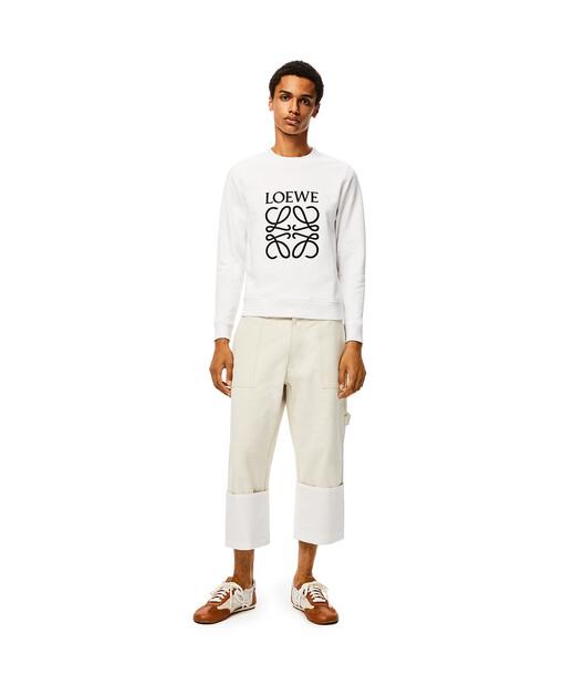 LOEWE Anagram Sweatshirt Blanco front