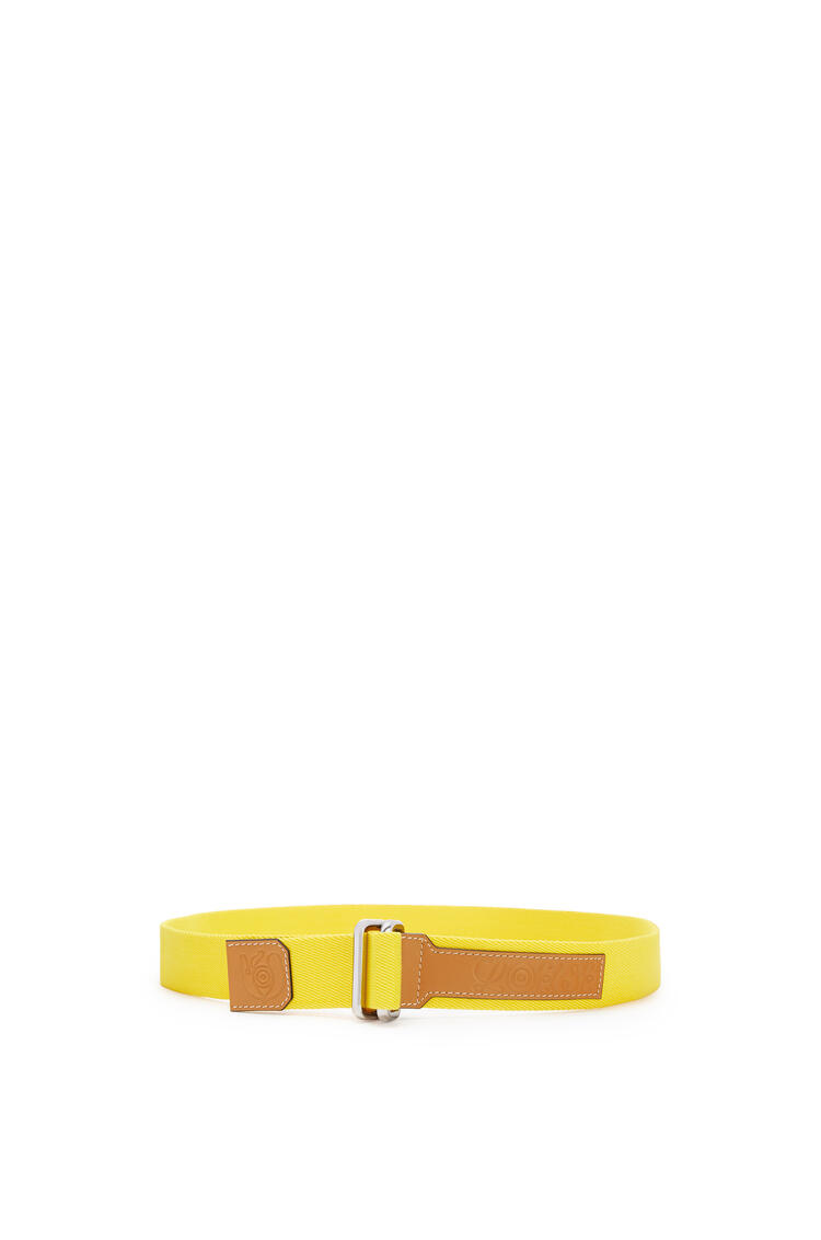 LOEWE Belt in canvas and calfskin Yellow pdp_rd