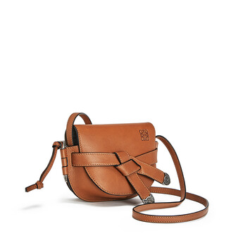 LOEWE Gate Western Mini Bag Walnut front